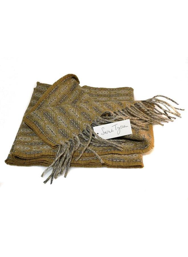 Merino Lammwolle langer Schal 01
