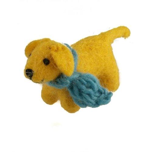 Amica Accessories Golden Felt Labrador Blue scarf 07