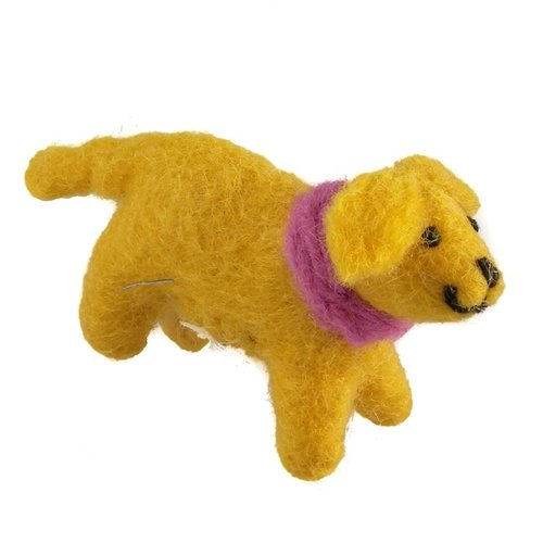 Amica Accessories Golden Felt Labrador Pink scarf 08