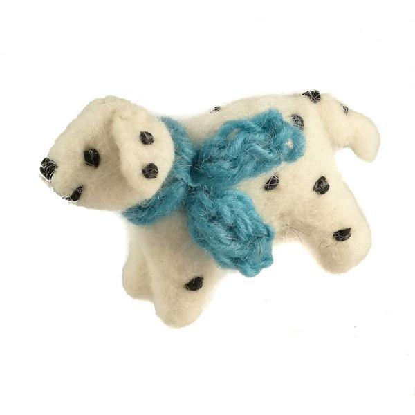Dalmation Felt toy Blue scarf 13