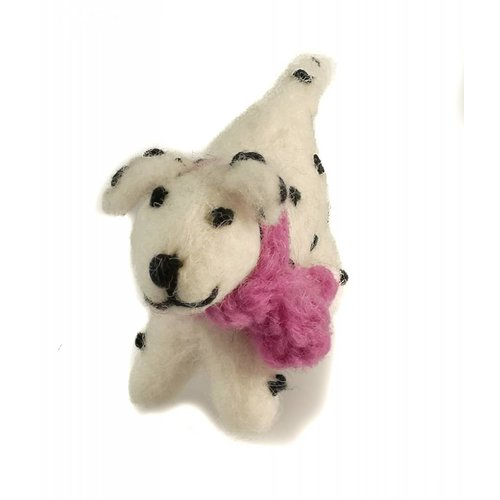 Amica Accessories Dalmation Felt toy Pink scarf 014