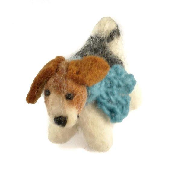 Fox TerrierFelt toy Blue scarf 11