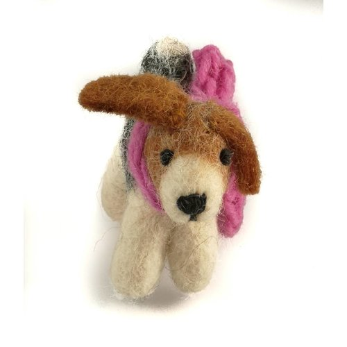 Amica Accessories Fox Terrier toy Pink scarf small 12
