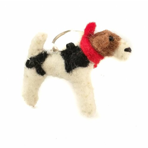 Amica Accessories Fox Terrier Felt Keyring 001