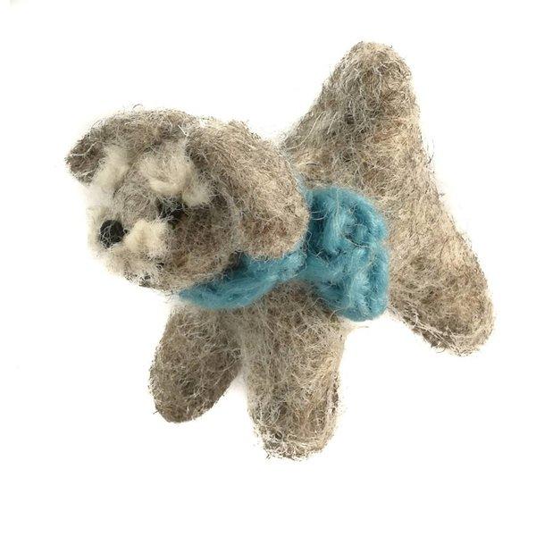 Schnauzer toy felt Blue 09