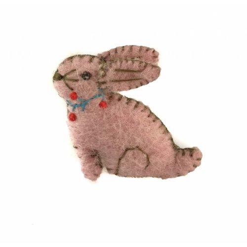 Amica Accessories Konijn broche roze vilt broche 018