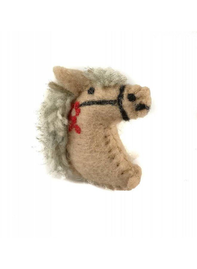 Ponybeige Filzbrosche 023