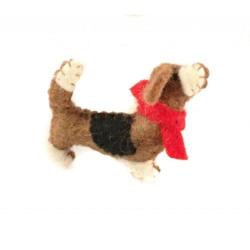 Amica Accessories Broche de fieltro Basset Hound 002