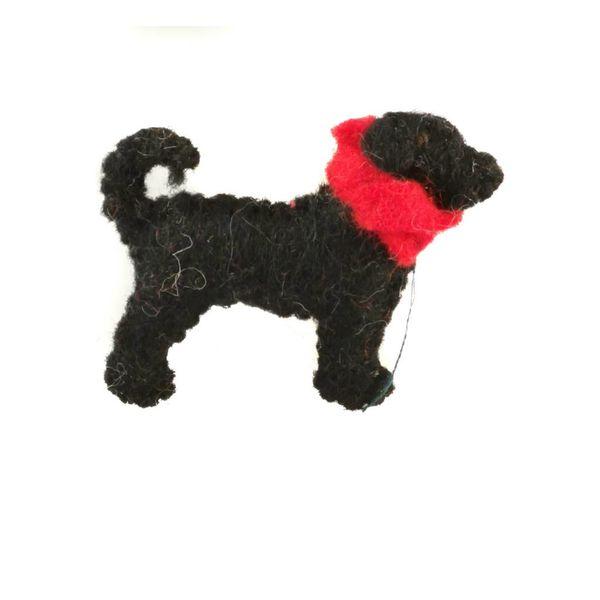 Marley pup black felt brooch 015