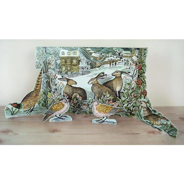 We Three Hares free standing Advent Calendar