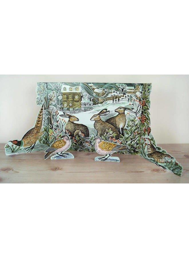 We Three Hares free standing Advent Calendar