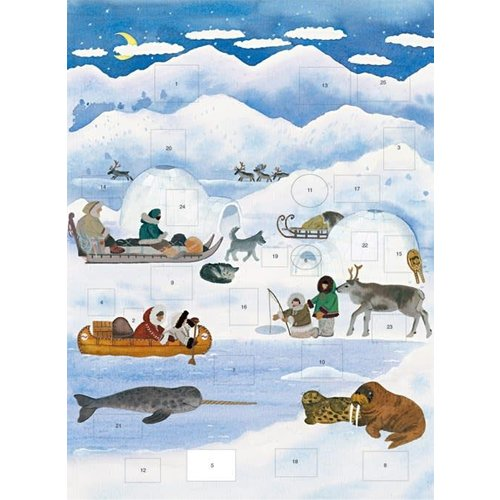 Art Angels Calendario de Adviento del Polo Norte por Claire Winteringham