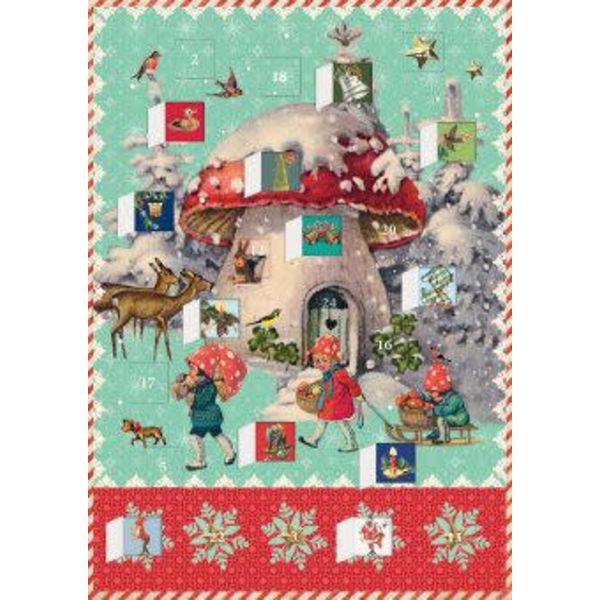 Festive Tanglewood Advent Calendar Card