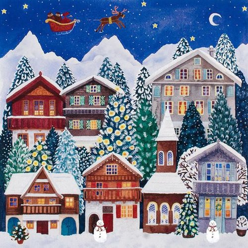 Art Angels Swiss Chalet Advent Calendar por Claire Winteringham