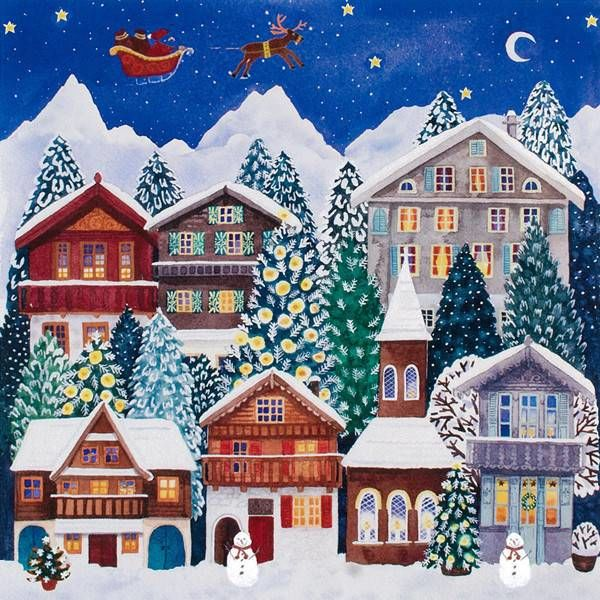 Swiss Chalet Advent Calendar por Claire Winteringham