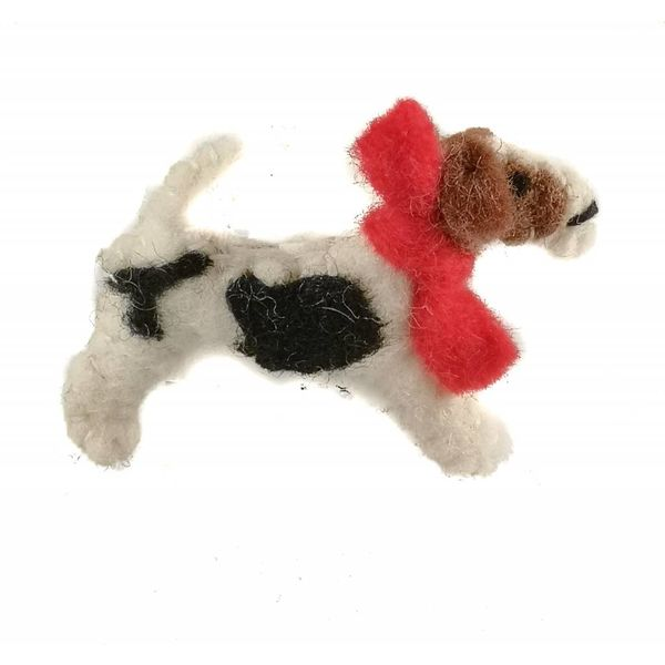 Fox Terrier felt brooch 009
