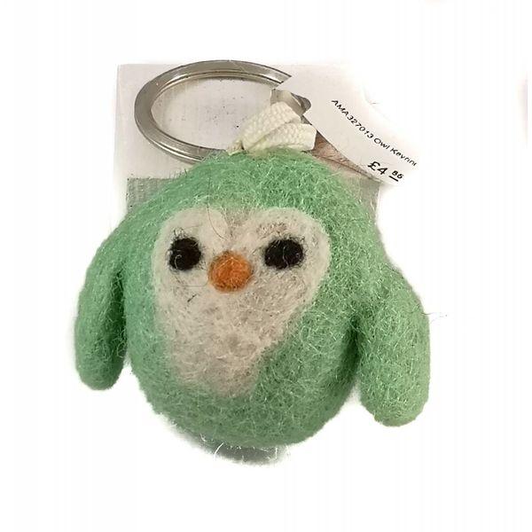 Owl Felt Keyring 013