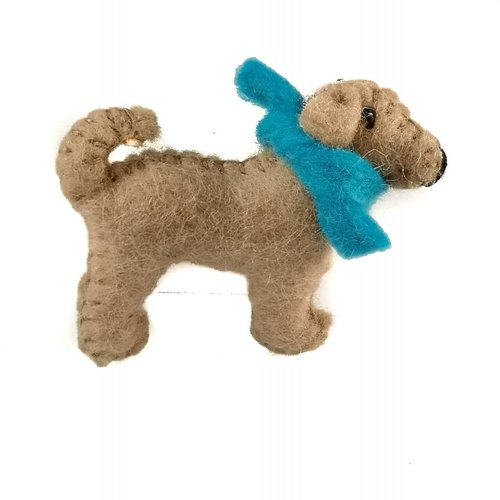 Amica Accessories Marley pup tan felt brooch 017