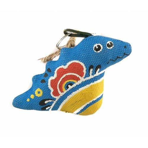 Kosa Deresa Llavero dragón azul 04
