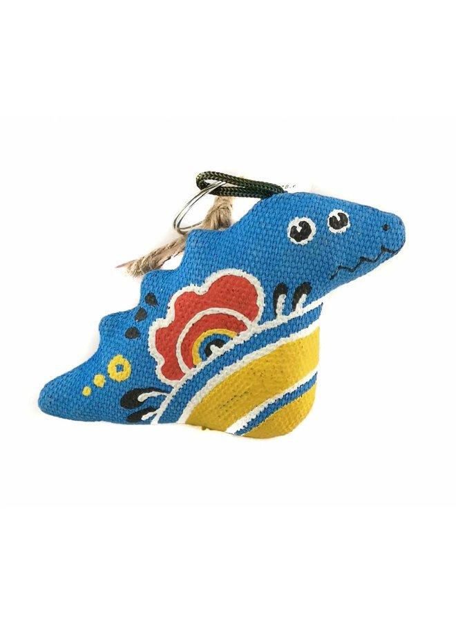 Blauer Drachen-Schlüsselanhänger 04