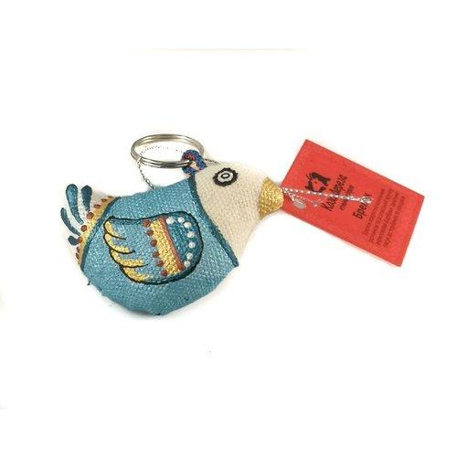 Kosa Deresa Blue Sparrow Schlüsselanhänger 001