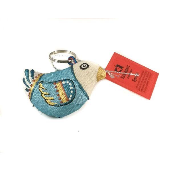Llavero de gorrión azul 001