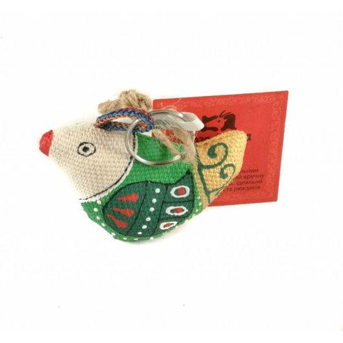Kosa Deresa Green Sparrow keyring 002