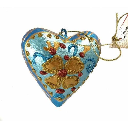 Kosa Deresa Decoración de corazón de hada azul 022