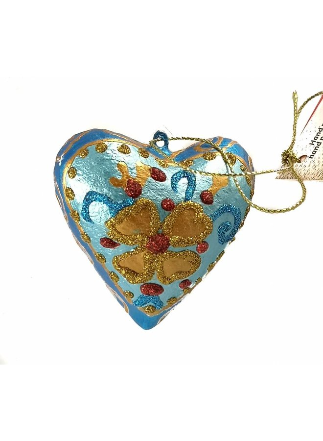 Blaue feenhafte Herzdekoration 022