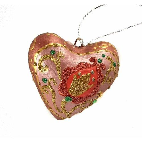 Kosa Deresa Pink Fairy Heart  decoration 023