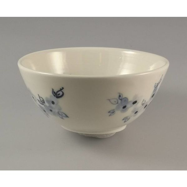 Birds in grass porcelain  hand painted bowl 014