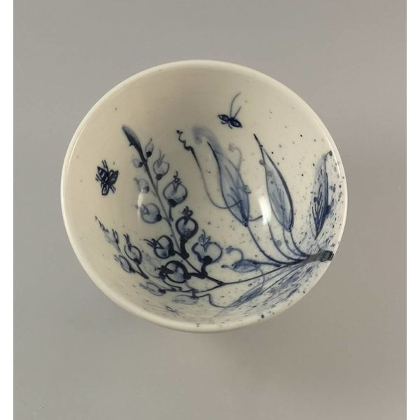 Jardín abejas Cuenco de porcelana pintada a mano 009