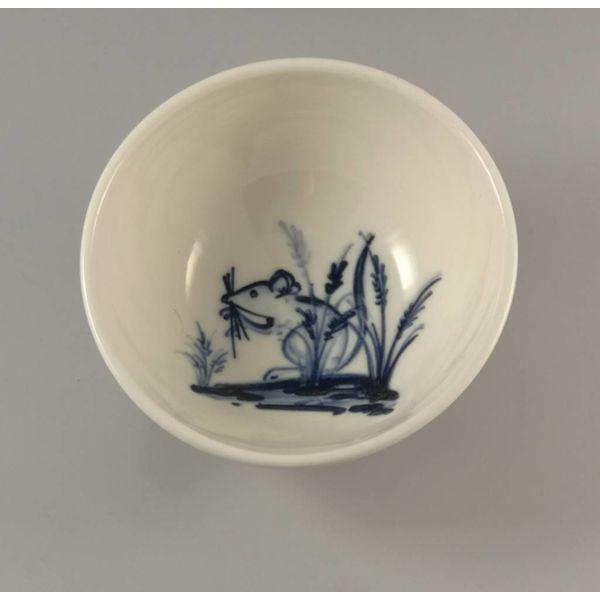 Maus in Lavendel Porzellan Hand bemalt Schüssel 017