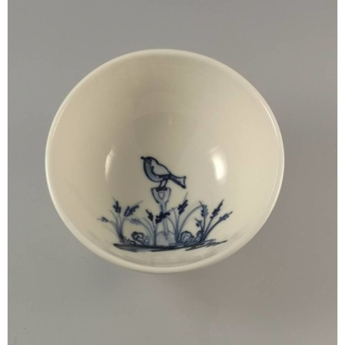 Mia Sarosi Robin Tiny porcelain  hand painted bowl 003