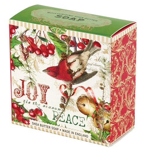 Michel Design Works Mistletoe and Holly  Christmas  Shea Soap
