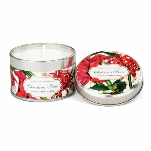 Michel Design Works Christmas Time Tin  Travel Candle