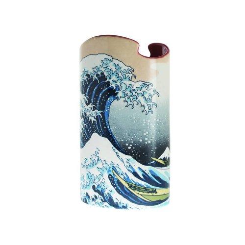 Dartington Crystal Ltd The Great Wave - Hokusai große Keramikvase 035