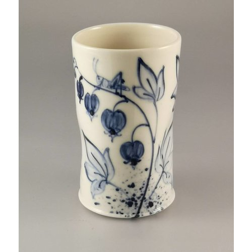 Mia Sarosi Bee and Grasshopper Posy Pot porcelain  hand painted  026