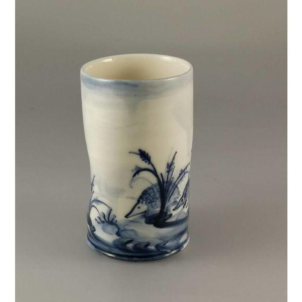 Hedgehog Posy Pot porcelain  hand painted 019