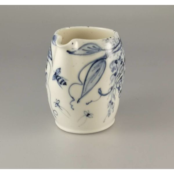 Bees in Blossom  porcelain  hand painted  pouring jug027