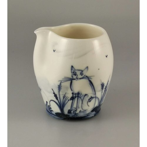 Mia Sarosi Cats and Kittens  porcelain  hand painted  pouring jug 031
