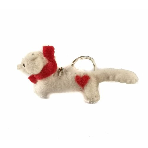 Amica Accessories Sausage heart Keyring