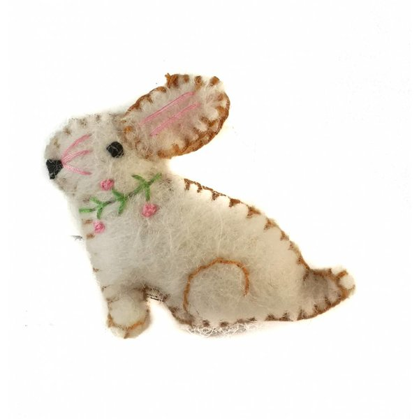 Bunny brooch white brooch