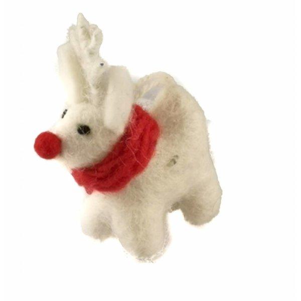 White Standing Reindeer