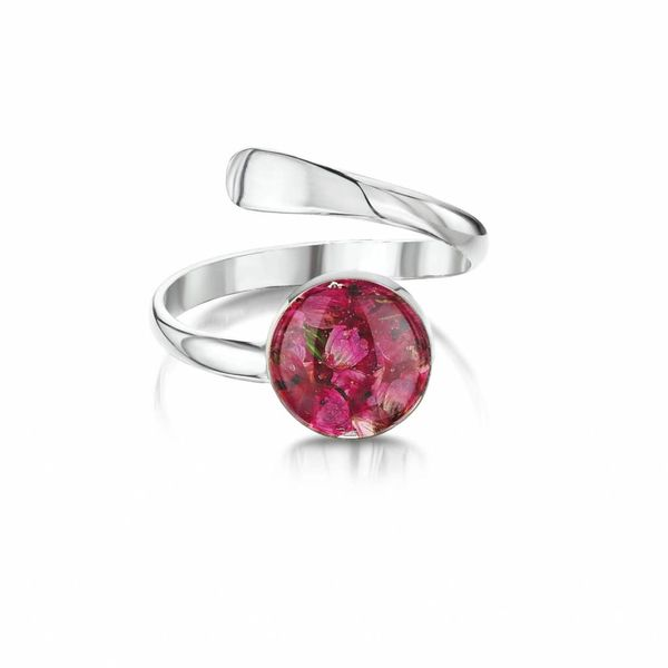 Adjustable Ring Heather   silver 024