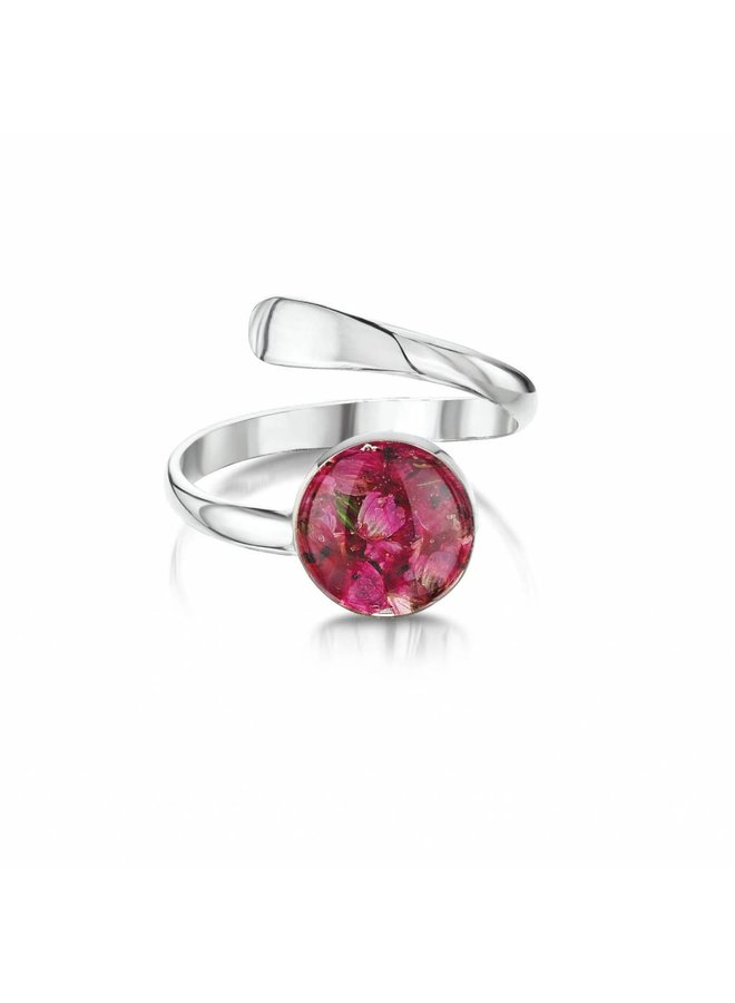 Justierbarer Ring Heather silver 024