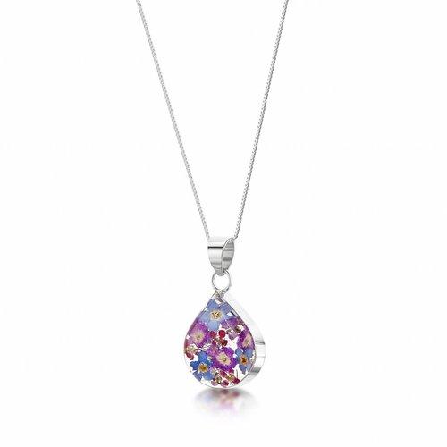 Shrieking Violet Teardrop lila Dunstanhänger Silber 016