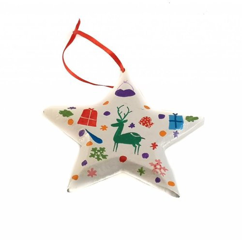 New Overseas Traders Deer  Star Decoration 10cm 08