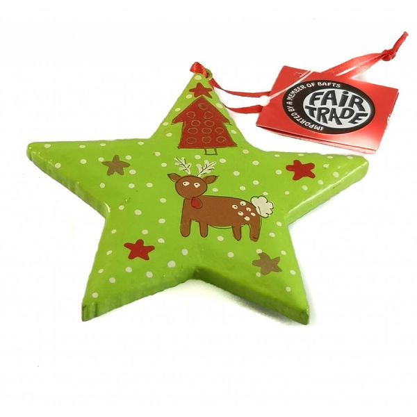 Foal in snow Star Decoration 10cm 09