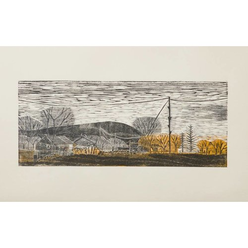 Anita J Burrows Pendle Hill from Watery Lane, Colne  Ed.6 of 25 Framed